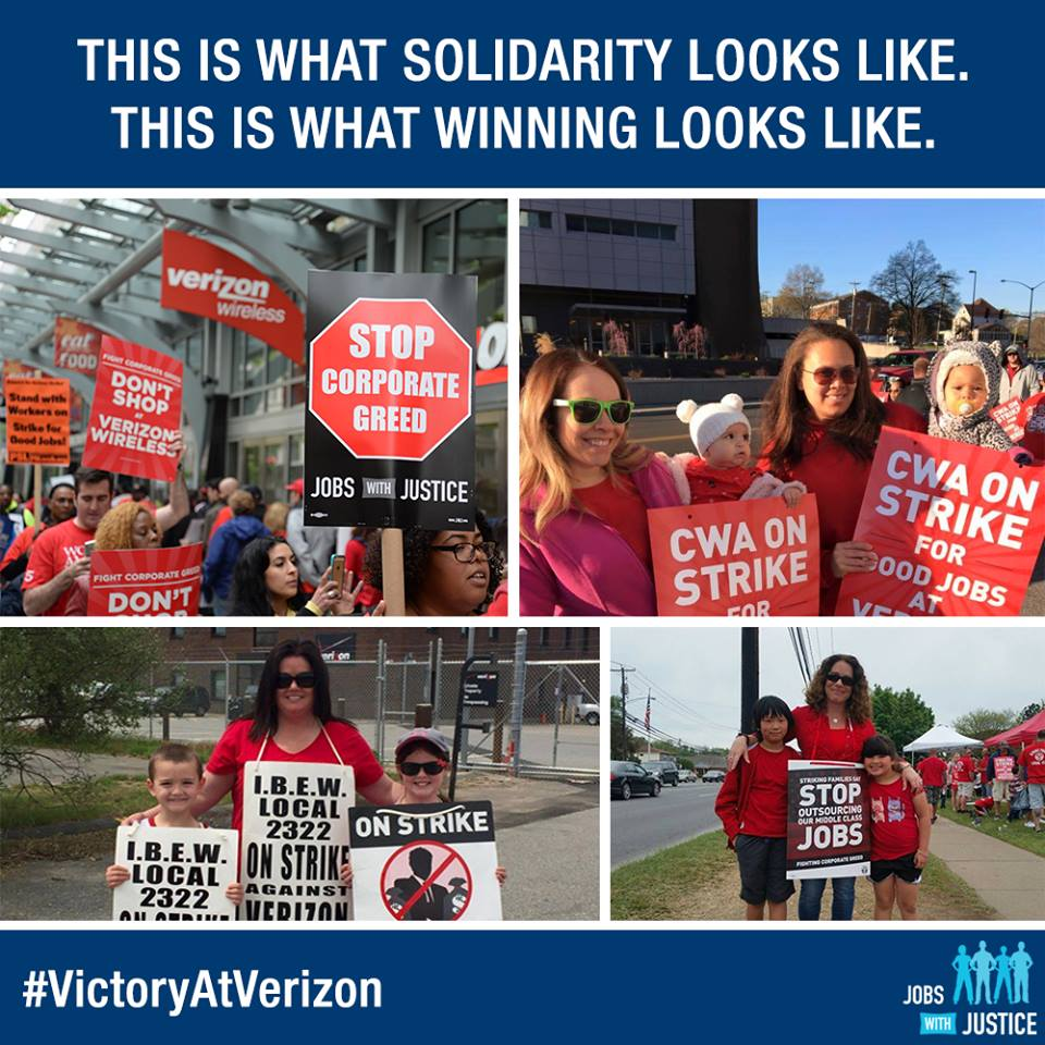 Solidarity with Verizon workers!