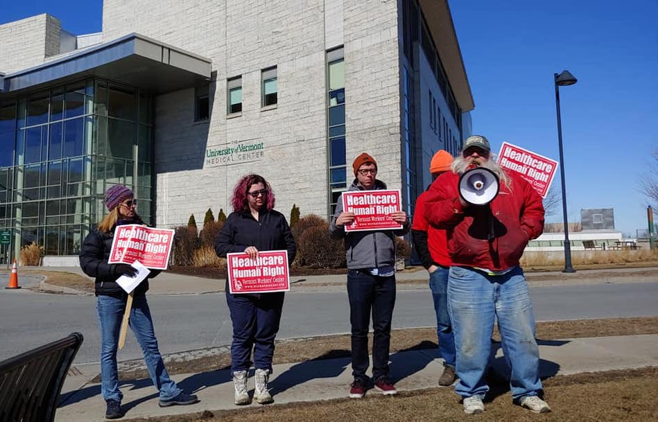 Rally at UVM Medical Center