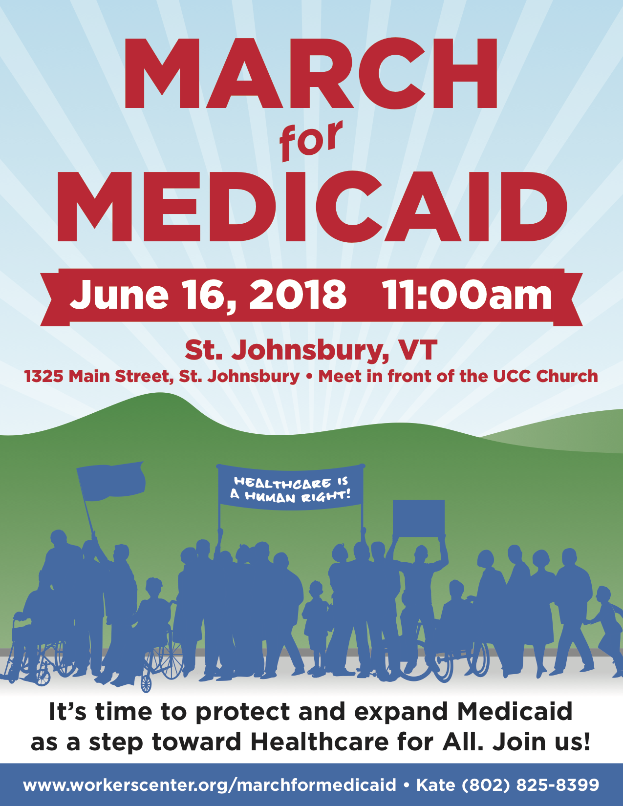 Poster for Medicaid March!