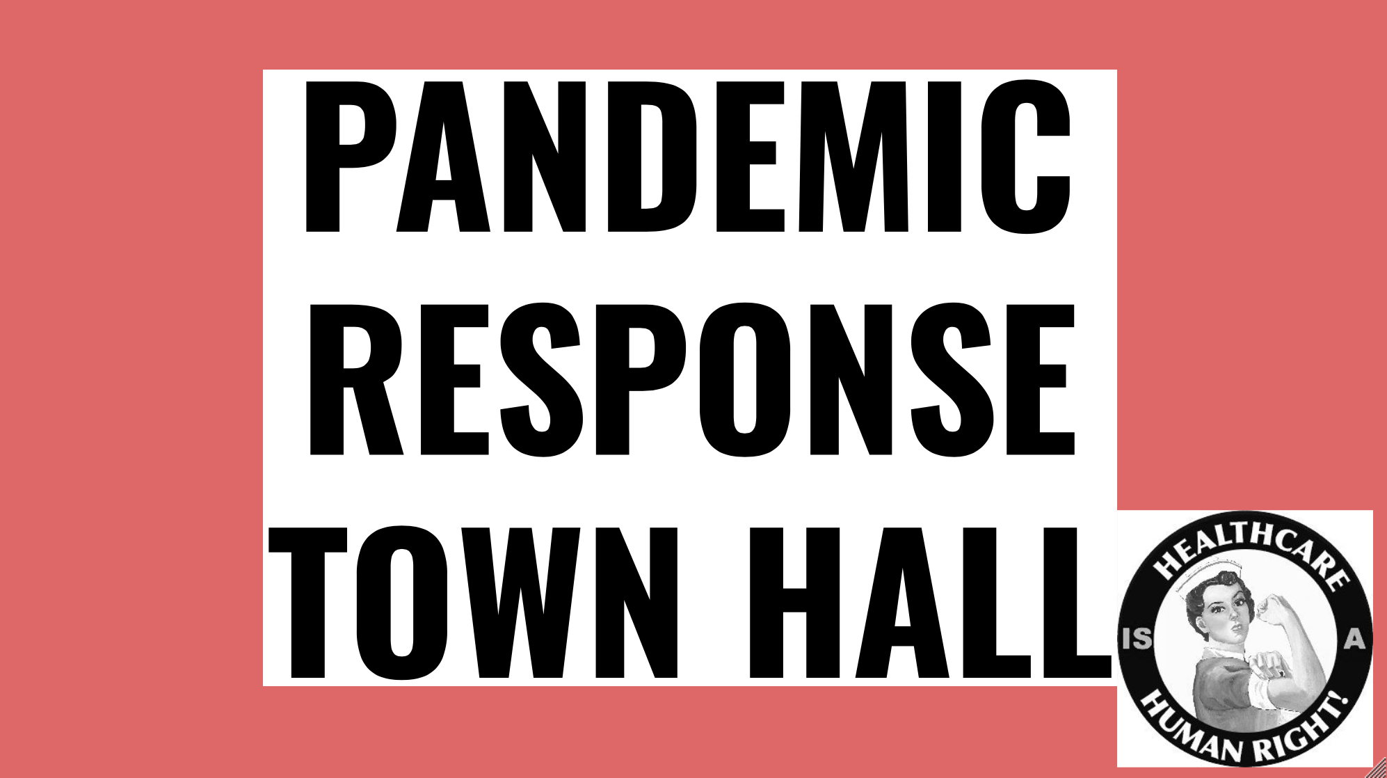 Pandemic Response Town Hall
